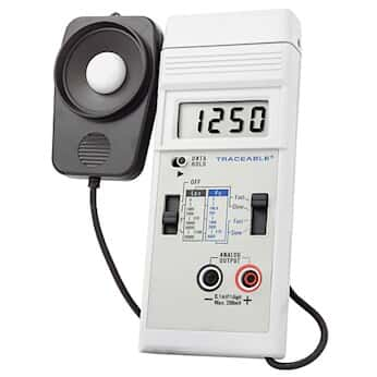 Traceable Dual-Range Light Meter with Recorder Output and Calibration