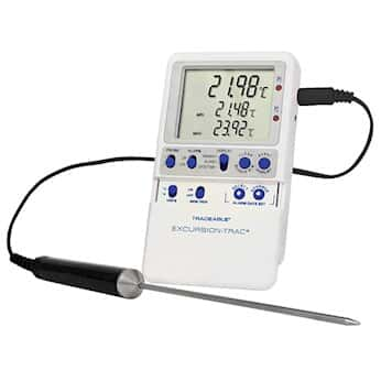 Traceable Excursion-Trac™ Data Logging Thermometer with Calibration; 1 Stainless Steel Probe