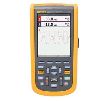 Fluke 123B/S ScopeMeter Industrial Handheld Oscilloscope Kit, 20 MHz, N America