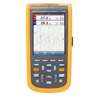 Fluke 124B/S ScopeMeter Industrial Handheld Oscilloscope Kit, 40 MHz, N America