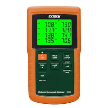 Extech DT4208SD 12 Channel Datalogging Thermometer