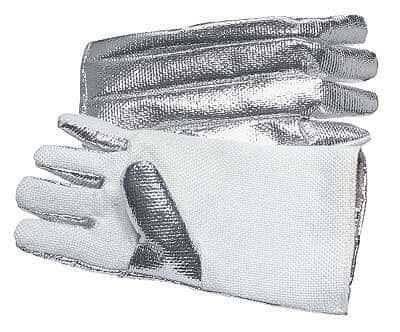 Newtex Industries Zetex High-Temp Gloves, Aluminized-Back, 1000F, 14