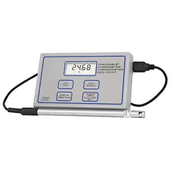 Traceable Fast-Response Thermohygrometer with Calibration; 5 to 95% RH, -40 to 220F