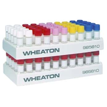 DWK Life Sciences (Wheaton) 985810 Polypropylene cryogenic vial rack, holds 50 flat bottom vials
