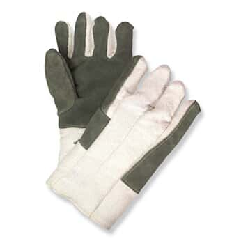 Newtex Industries Style 130 Gloves with Leather Palm, 1 pr