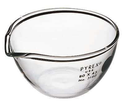 Pyrex 3180-80 Brand 3180 Evaporating Dish, 80 mm OD x 45 mm H; 140 mL, 6/Cs