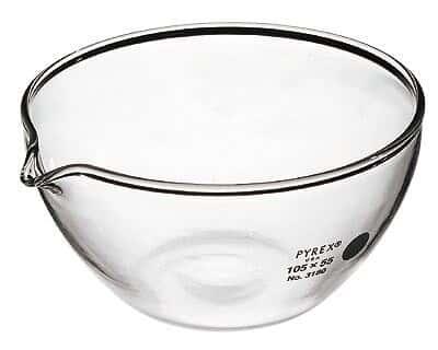 Pyrex 3180-105 Brand 3180 Evaporating Dish, 105 mm OD x 55 mm H; 290 mL, 6/Cs