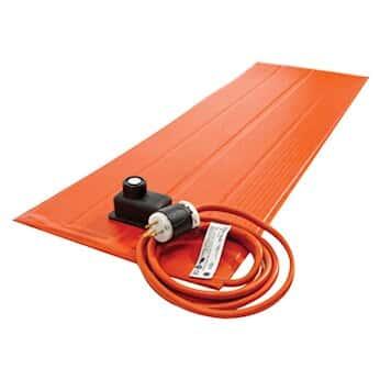 BriskHeat SRP12121ADJB Silicone Heating Blanket with Controller, 180 W, for Plastics, 12