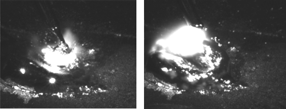 千眼狼高速摄像机拍摄的短路过渡图片.png