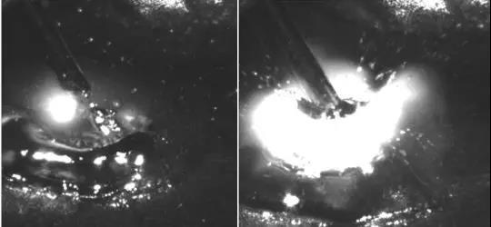 千眼狼高速摄像机拍摄的喷射过渡图片.jpg
