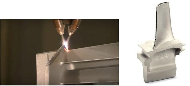(图1)多路送粉式激光3D打印航空发动机叶片.png