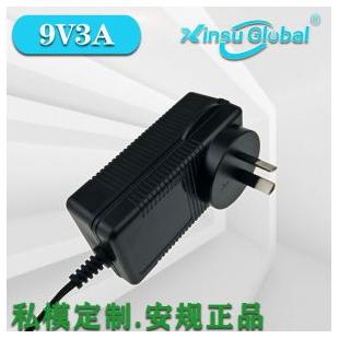 9V3A中国CCC认证LED灯具电源日本PSE认证9V3A插墙式电源适配器