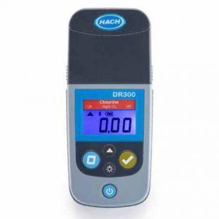 HACH哈希DR300便携比色计余氯总氯氨氮臭氧二氧化氯测定仪