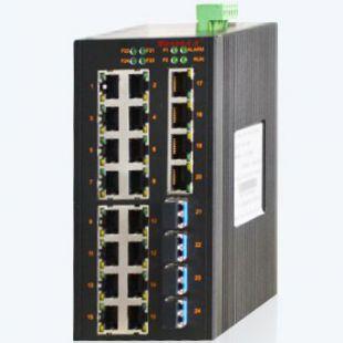 MIE-2424M 20GE+4GSFP卡軌式全千兆網管型工業以太網交換機