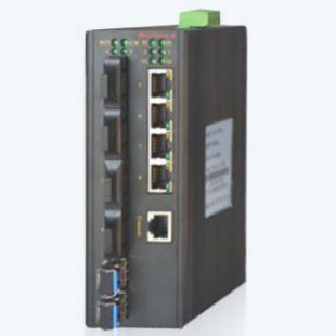 MIE-5610 4FE+4F+2GSFP+2路 485+2路CAN卡軌式百兆網管型工業以太網交換機