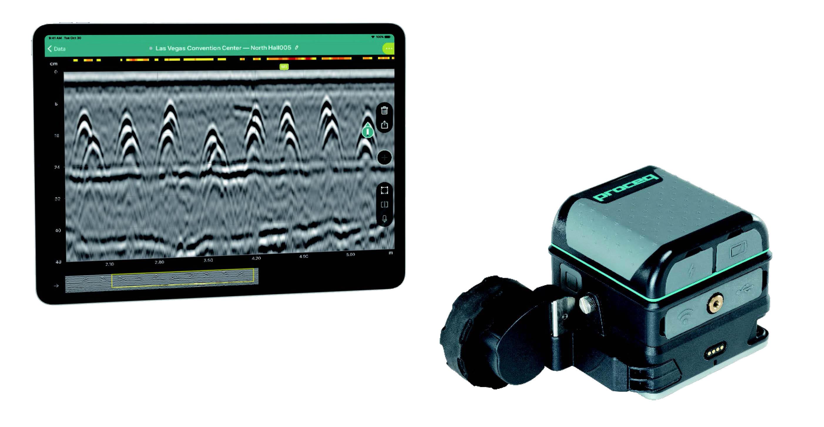 GP8800 Pro 手持式混凝土雷達