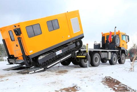 PANTHER-150-FLEX-200 PT工作舱履带牵引装置和卡车组合