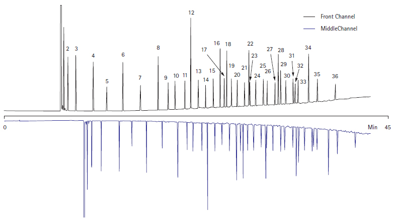 双通道同时分析脂肪酸甲酯