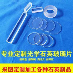 石英光学玻璃片 JGS2 直径40 50mm圆片方片高透明紫外玻璃高温视镜