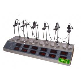 HJ-6B六头数显恒温磁力加热搅拌器