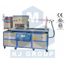 滑动式双温区PECVD系统--OTF-1200X-II-4CV-PE-SL-UL