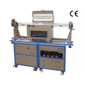 双管滑动式1200℃四通道混气CVD系统