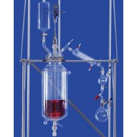 LENZ公斤級反應釜,玻璃反應釜(肖特DURAN玻璃,雙層夾套)