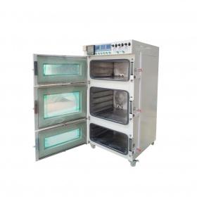 三层三门独立控温真空干燥箱