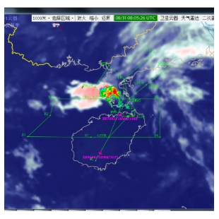 民航河海气象信息与航迹融合显示系统