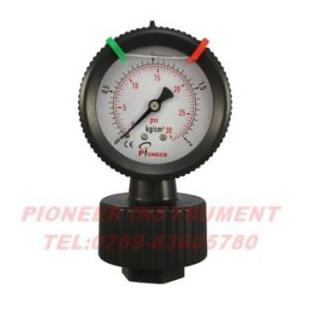 派尔耐PVC耐震耐腐蚀隔膜压力表