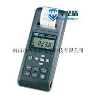 台湾TES-1304带打印列表式温度计TES-1306数字式温度表