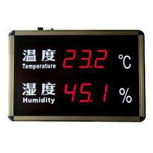 温湿度屏(香槟色外框)