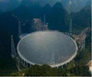 """我国自主研发射电望远镜""""天眼""""开启"""