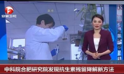 中科院合肥研究院发现抗生素残留降解新方法