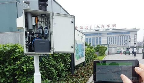 在线扬尘噪声监测系统进火车站 实时监测PM2.5和噪声