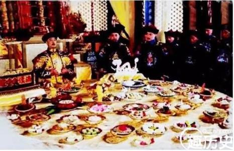 到底皇帝每顿饭吃多少道菜?