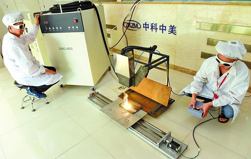 我国激光再制造行业首台大功率熔覆光纤激光器问世