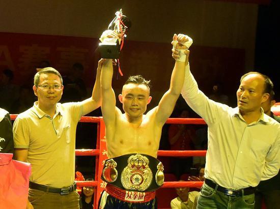 外卖小哥成中国拳王 重庆小伙夺WBA青年金腰带