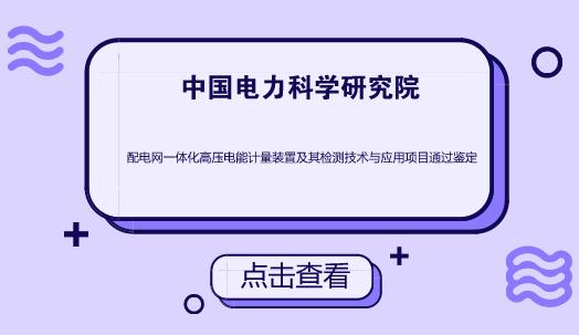 中国电科院配电网一体化高压电能计量装置项目通过鉴定