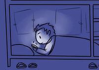 晚上关灯可以玩手机吗?