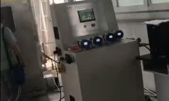 盐城质检电线电缆成束燃烧试验装置验收完成