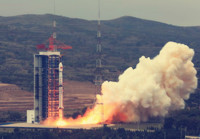 5米光学卫星向中国遥感卫星地面站发送多光谱与全色影像