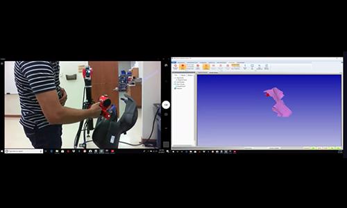 API iScan扫描测头快速扫描演示