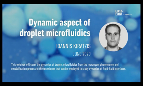 液滴研讨会/网络课程:液滴微流控的动态分析