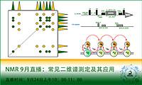 【NMR培训】9月直播课程 - 常见二维谱的测定及应用