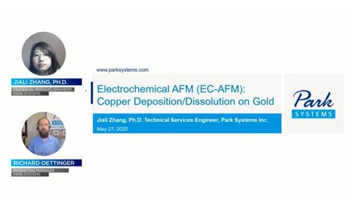 (youtube油管)电化学原子力显微镜(EC-AFM) 铜颗粒在金表面的沉积溶解