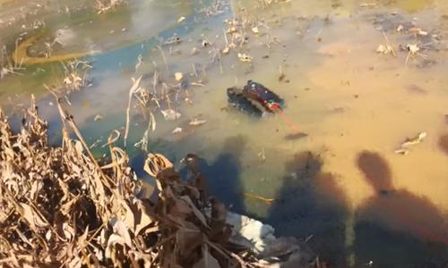 HHL-X1全地形机器人,水面、冰面测试视频