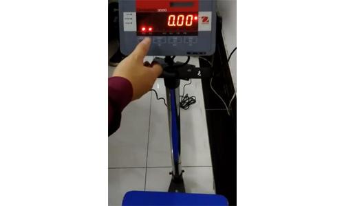 奥豪斯电子秤D3000的校正方法