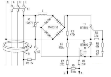 三相漏电断路器工作原理
