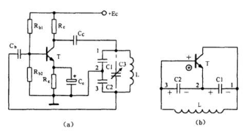 c2组成起选频作用的谐振电路,从电容c2上取出反馈电压加到晶体管t的